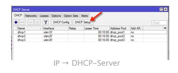 VLAN server dhcp