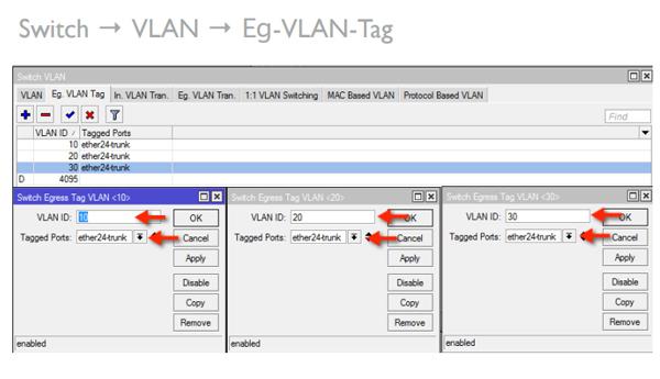 VLAN CRS125